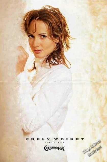 Chely Wright Large Magazine Foldout Print Photo (2000)