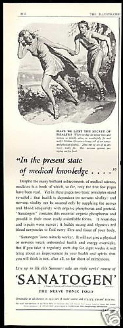 Sanatogen Nerve Health Tonic Food Vintage (1938)
