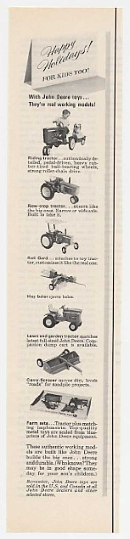 John Deere Toy Tractor Baler Scraper Toys (1967)