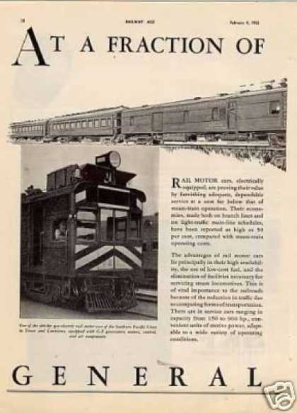 G-e 2 Page Ad Southern Pacific (t&no) Gas-electric (1933)