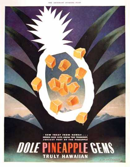 Dole Pineapple Art Deco (1938)