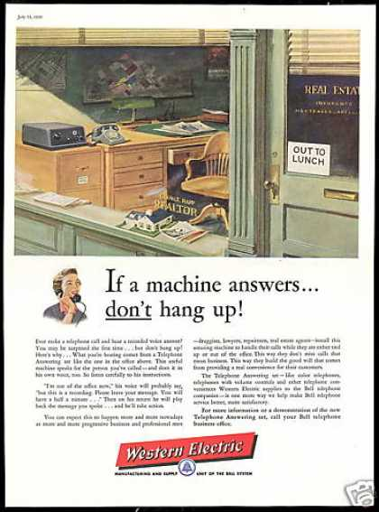 Western Electric Telephone Answering Set (1956)