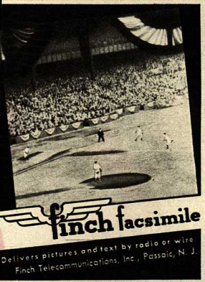 Finch Communication's Delivery of pictures and text by radio or wire – Finch Facsimile (1945)