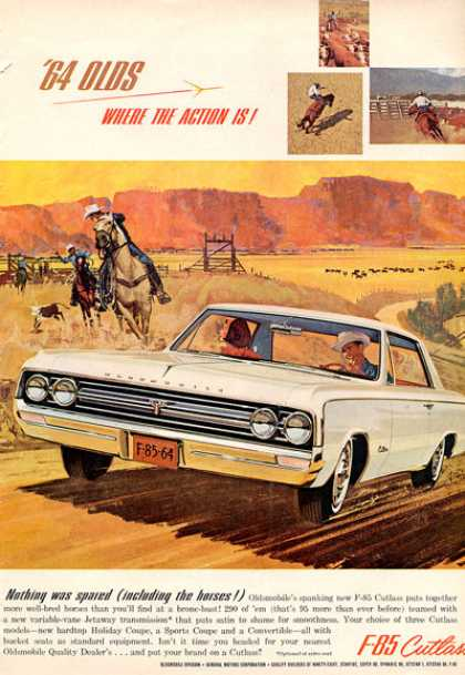 Olds Oldsmobile Cutlass F-85 Cowboy Ranch Rope (1964)
