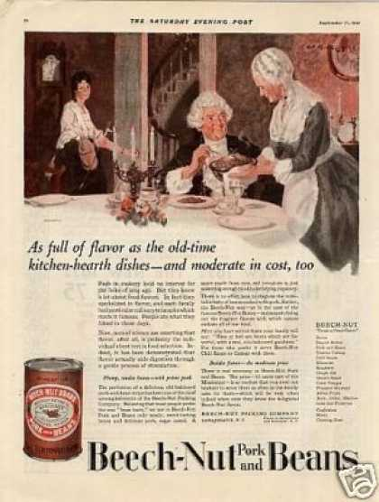 Beech-nut Pork and Beans Color (1921)