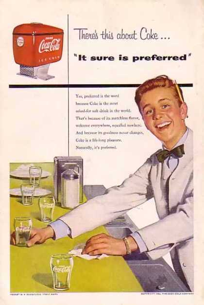 Coke Soda Preferred 1954