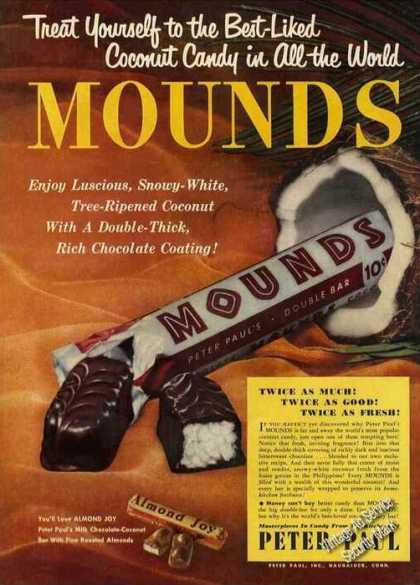 Mounds & Almond Joy Beautiful Full Color (1950)