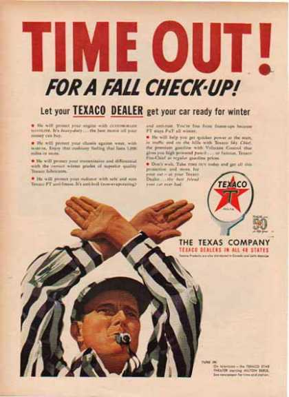 Texaco – Time Out for a Fall Check Up – Football (1952)
