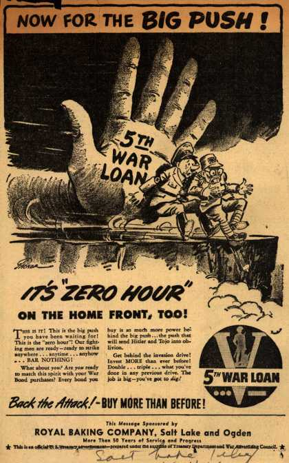 U. S. Treasury Dept.'s 5th War Loan – Now For The Big Push (1944)