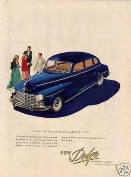 "Dodge Car Ad ""A Touch of Glamour... (1947)"