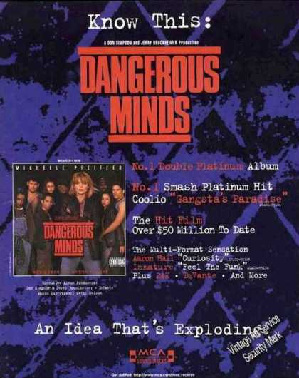 "Michelle Pfeiffer ""Dangerous Minds"" Music (1995)"