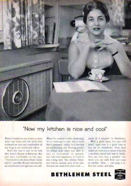 Bethlehem Steel – Now my kitchen is nice and cool (1958)