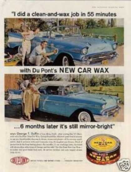 Dupont Car Wax Ad Chevrolet Car (1958)