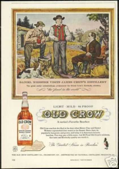 Daniel Webster James Old Crow Whiskey (1958)
