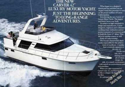 Carver 42' Luxury Motor Yacht Nice Photo (1985)