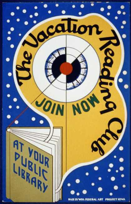 The vacation reading club – join now at your public library. (1936)