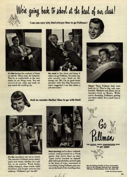 Pullman Company – We're going back to school at the head of our class (1948)