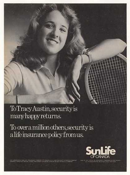 Tennis Tracy Austin Sun Life Insurance Photo (1982)