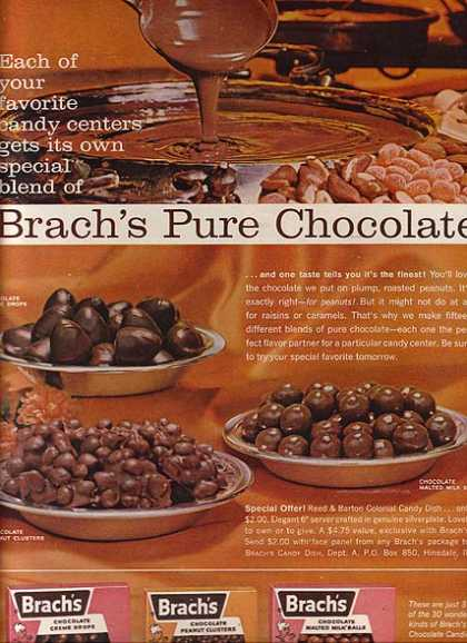 "Brach's ""Each of your favorite candy centers gets its own special blend of (1962)"