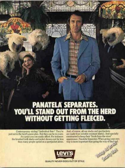 Levi's Panatela Separates Fashion (1978)