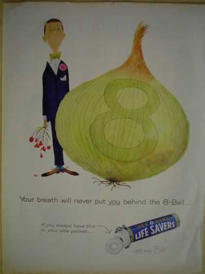 Life Savers Lifesavers Pep O Mint Onion Theme (1960)