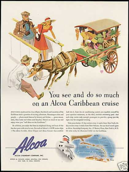 Alcoa Steamship Co Cruise Ship Holmgren Art (1947)
