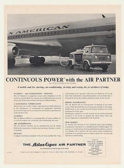 Pan Am Airlines Jet Atlas Copco Air Partner (1960)