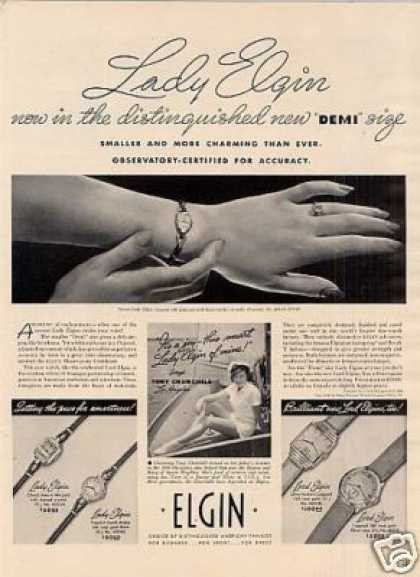 Elgin Watches Ad Lady Elgin (1940)