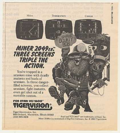 Tigervision Miner 2049er Atari Video Game (1983)