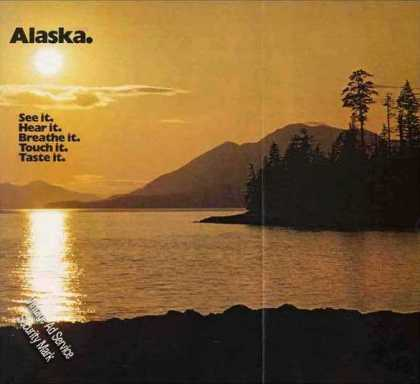 Beautiful Alaska at Dusk Photo Travel (1973)