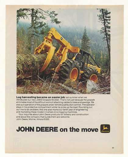 John Deere JD640 Grapple Skidder Tractor Photo (1975)