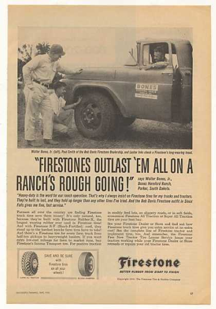 Walter Bones Jr Hereford Ranch Firestone Tire (1959)