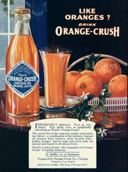 Orange-Crush, Oranges, USA (1920)
