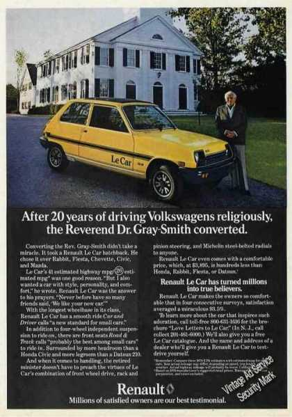Renault Reverend Dr. Gray-smith Converted (1979)