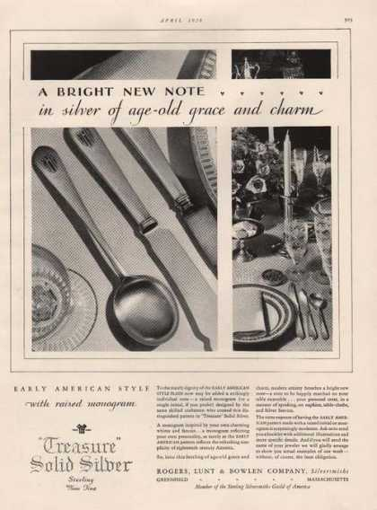 Treasure Solid Sterling Silver Ware (1929)