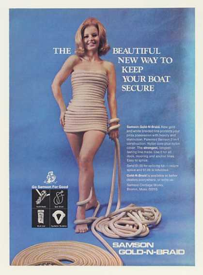 '69 Lady Wearing Samson Gold-N-Braid Boat Rope Photo (1969)