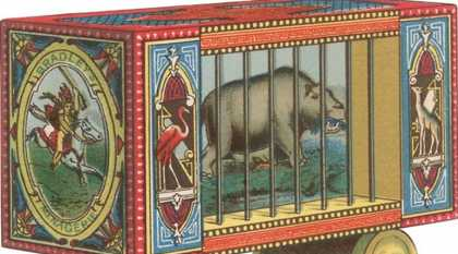 Circus Hippo in Cage