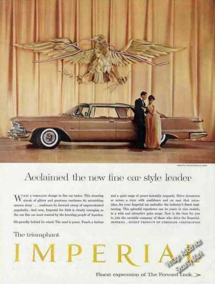 "Imperial ""Fine Car Style Leader"" Large Color (1958)"