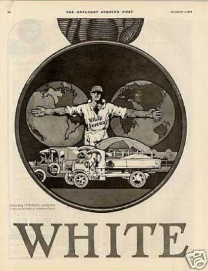 White Trucks Ad 2 Page (1923)