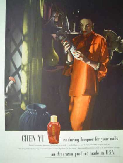 Chen Yu Enduring lacquer for your nails (1943)