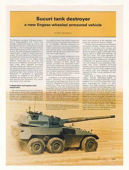 Engesa EE-18 Sucuri Armoured Vehicle Photo Article (1988)