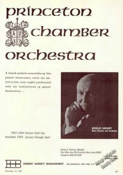 Nicholas Harsanyi Photo Princeton Chamber Orch (1967)