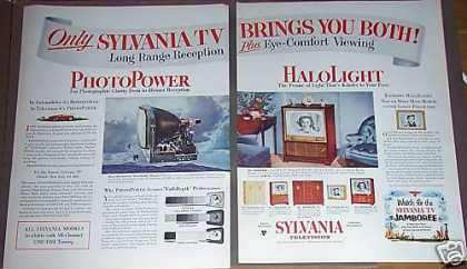 Sylvania Halolight Tv Set Television (1953)