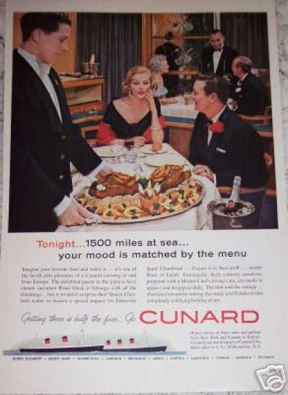 Cunard Cruise Line Mood Food Original (1959)