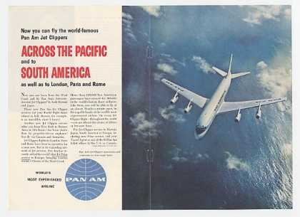 Pan Am Airline Jet Clipper South America Dbl-Pg (1959)