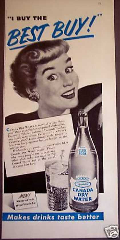 Canada Dry Club Soda Water Retro (1950)