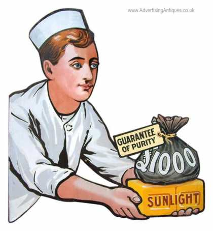 Sunlight Soap Biy – £1000 Reward Sign