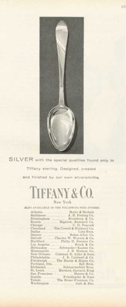 Tiffany Sterling Silver Dinnerware Spoon (1955)