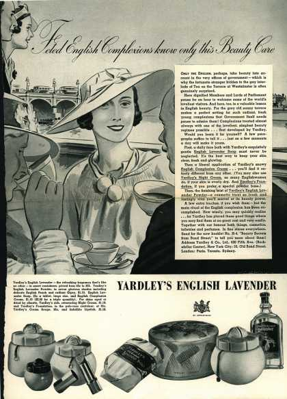 Yardley & Co., Ltd.'s Yardley's English Lavender – Feted English Complexions know only this Beauty Care (1936)