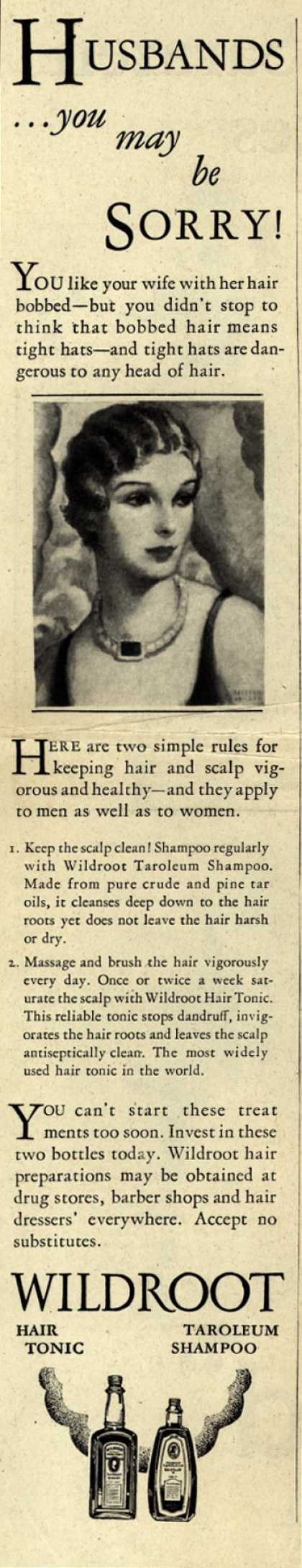 Wildroot Company's Wildroot Hair Preparations – Husbands... you may be Sorry (1928)